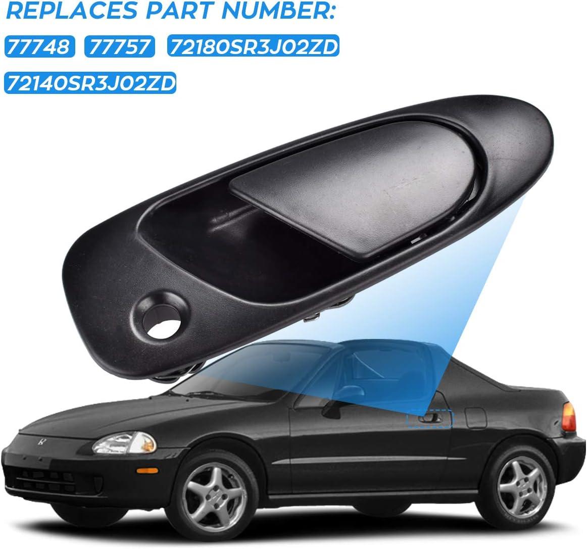 FAERSI Outside Exterior Door Handle Front Driver /& Passenger Side for Honda Civic /& Civic Del Sol 1992 1993 1994 1995 Civic /& 1993-1997 Civic Del Sol 72180SR3J02ZD 72140SR3J02ZD