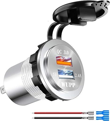 Kriogor 2 4a 12v Steckdose Usb Adapter Und 3 0 Quick Elektronik