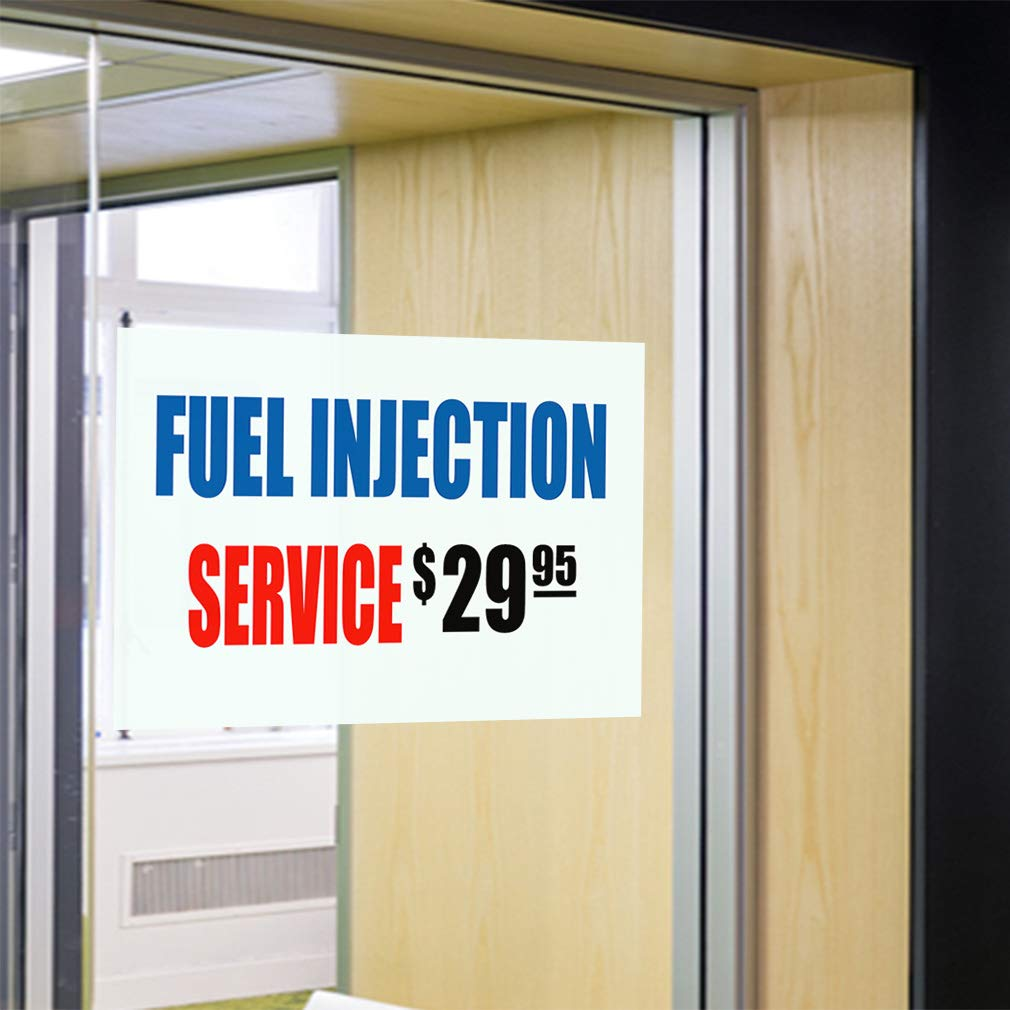 45inx30in Decal Sticker Multiple Sizes Fuel Injection Service $29.95 Business Automotive Fuel Injection Service Outdoor Store Sign Blue Set of 5