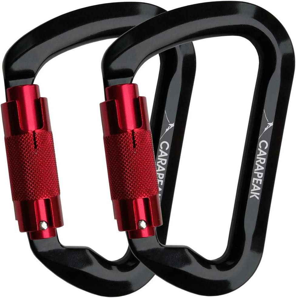 5pc 30KN Auto Locking Carabiner for Climbing Arborist Rappel Rescue Belay Device
