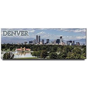 Denver fridge magnet panoramic Colorado travel souvenirColorado travel souvenir