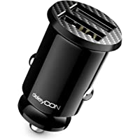 deleyCON 4,8 A Sigarettenaansteker USB-Lader - 4800 mA Fast Charge 2-Poort USB - Mini Car Charger
