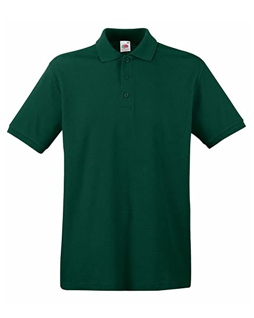 Fruit of the Loom polo premium verde verde (Forest green) extra ...