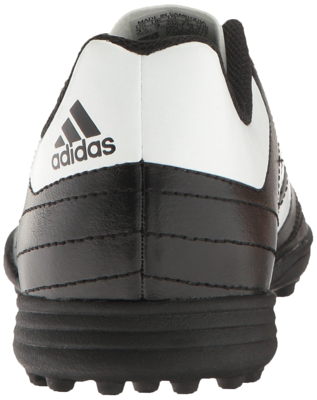 buy popular b35a5 8ca8f adidas Boys Goletto VI TF J Soccer Shoe, BlackWhiteSolar Green, 3 M US  Little Kid - 134  Soccer  Clothing, Shoes  Jewelry - tibs
