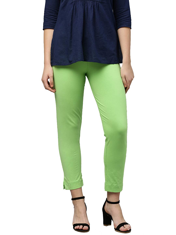 LUX LYRA Women's Straight Pant Slim (LYRA_KURTIPANT_1PC_Light Green_Free Size)