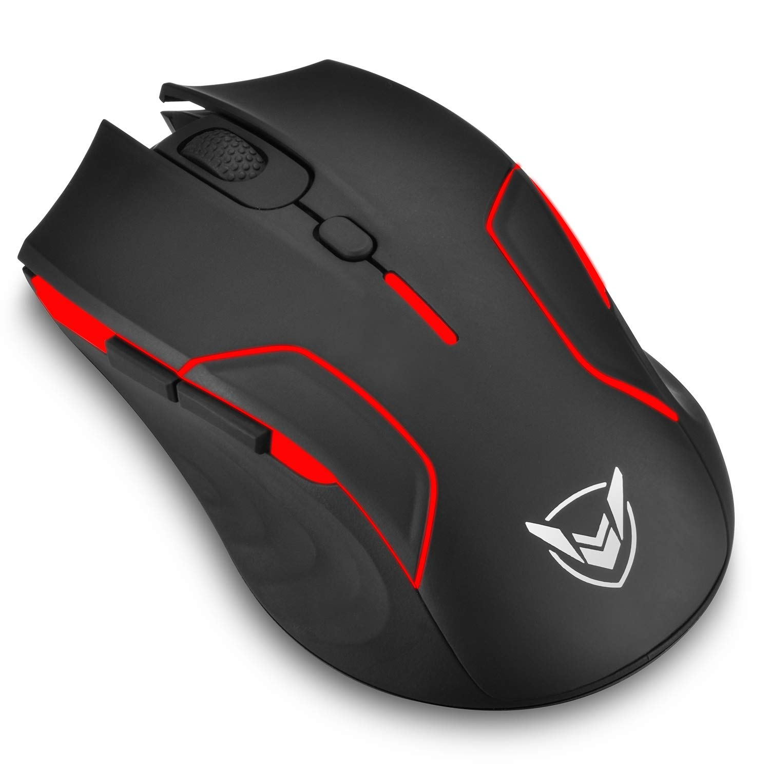PICTEK Gaming Mouse Wireless, Customizable RGB Backlight Mouse with 6 Programmable Buttons, 220 Hours Battery Life, 1Ms Polling Rate, Adjustable Up to 10000 DPI