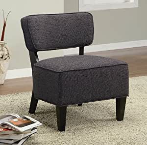 kitchen accent furniture amazon com accent chair in dark grey linen textured fabric kitchen dining 9493