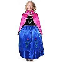 Bascolor Disfraz Anna Frozen Niñas con Capa Princesa
