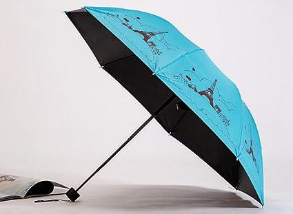 Sucastle Paraguas, vinilo, torre de impresión, paraguas, tres plegables, viento,
