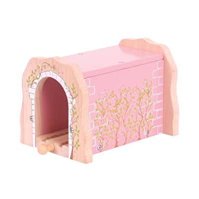 Bigjigs Rail Pink Brick Tunnel - Other Major Wooden Rail Brands are Compatible: Toys & Games