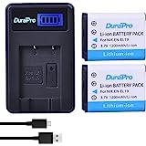 DuraPro 2Pcs 3.7V 1200mAh EN-EL19 EN EL19 Camera Battery + LCD USB Charger for Nikon Coolpix S2600 S2700 S3100 S3500 S4100 S4150 S4400 S5200 S6400 S6900