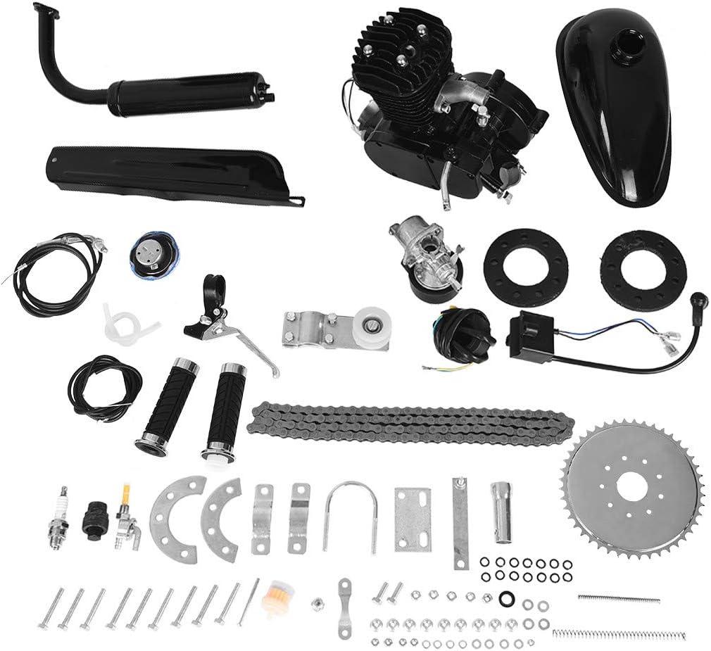 Kit de motor de bicicleta de 50 cc, bicicleta motorizada de 2 tiempos, kit de motor de gasolina para motor, piezas de scooter, kit de motor de ciclo para bicicleta motorizada (enviado