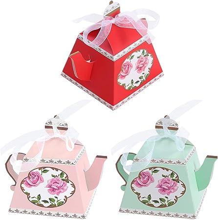 Amazon.com: Amosfun – Caja de papel con forma de tetera para ...