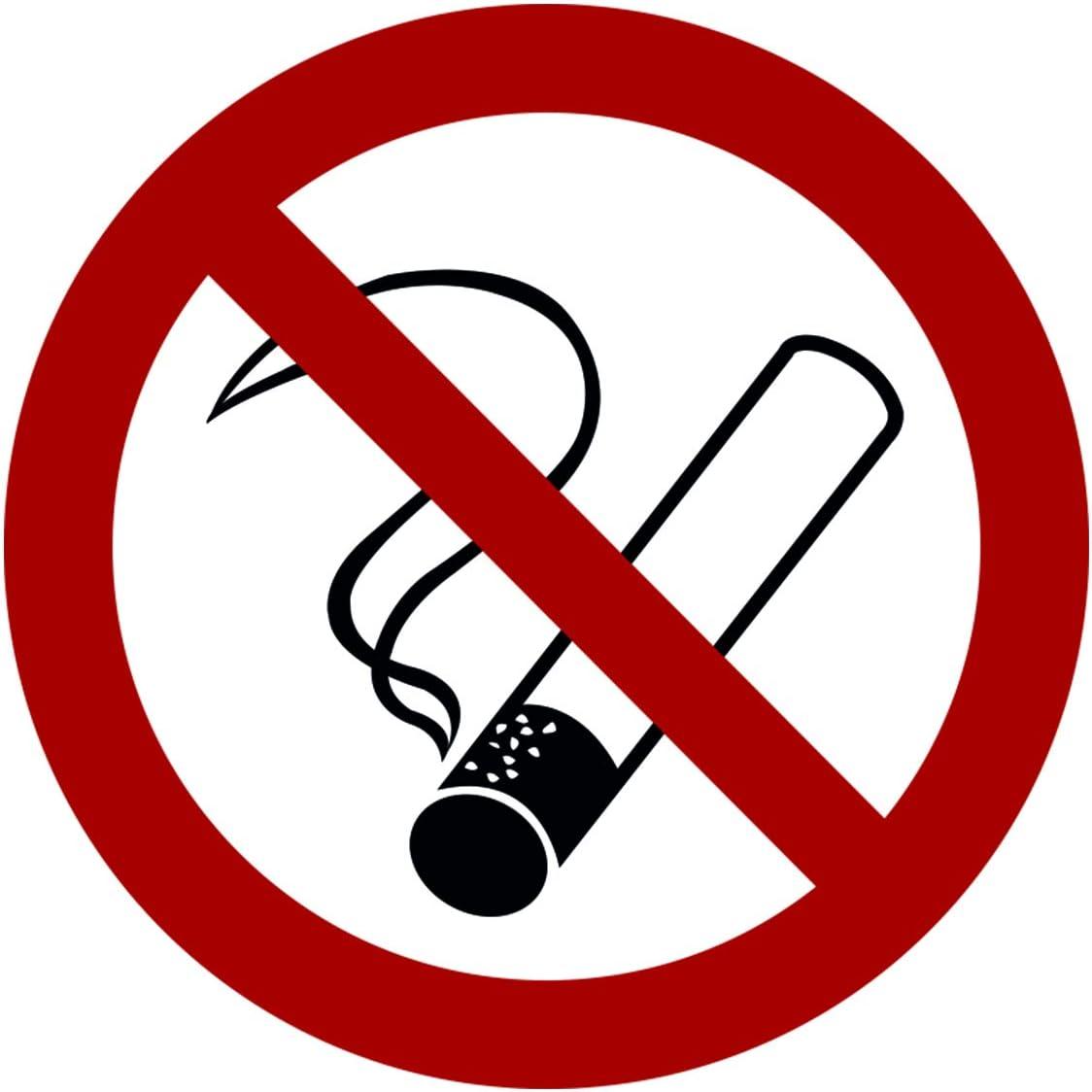 Non autoris/é par STROBO Autocollant interdit de fumer interdit avec protection UV pour lext/érieur et lint/érieur
