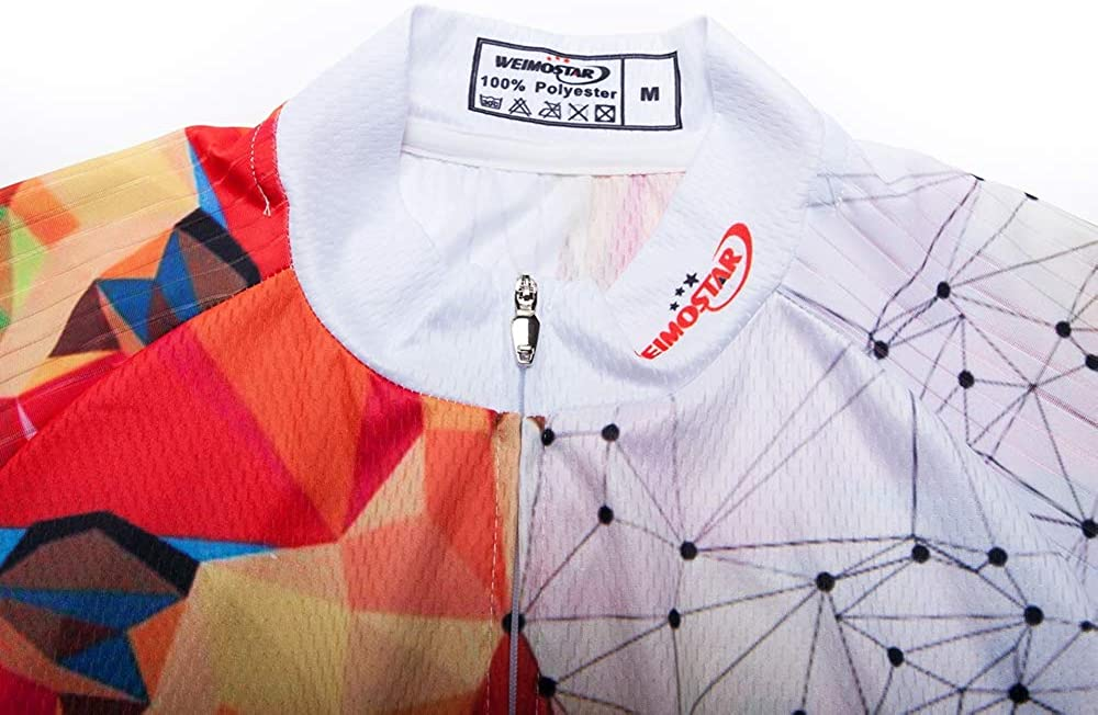 Weimostar Mens Cycling Jersey Short Sleeve Breathable Biking Shirt