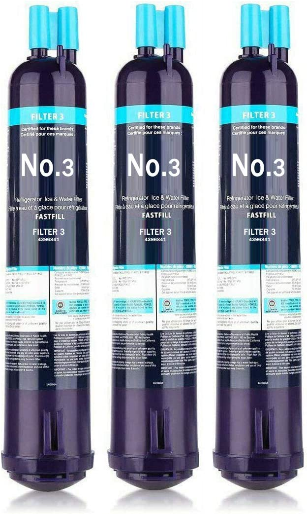 Glacier Dream 4396841 EDR3RXD1 Water Filter Replacement, Compatible with 4396710 Refrigerator Cap Water Filter 3 Kenmore 9083, 9030 3-Pack