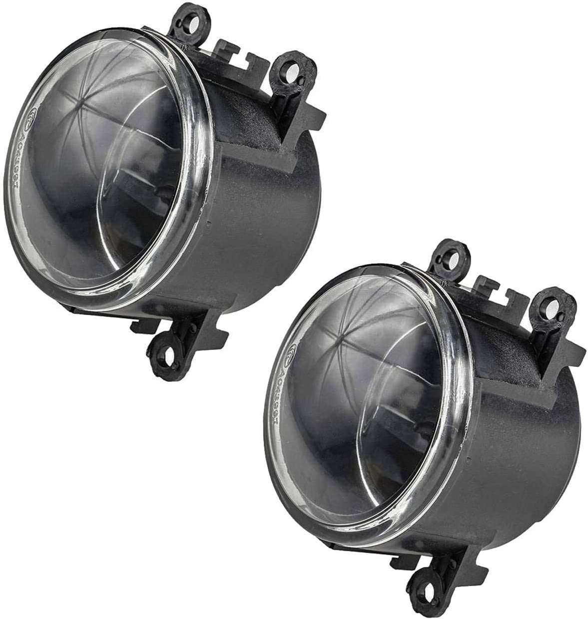 Right Fog Light Lamp 55W w// H11 Bulb for Acura Nissan Ford Honda Lincoln Bapmic 4F9Z15200AA Front Left Pack of 2