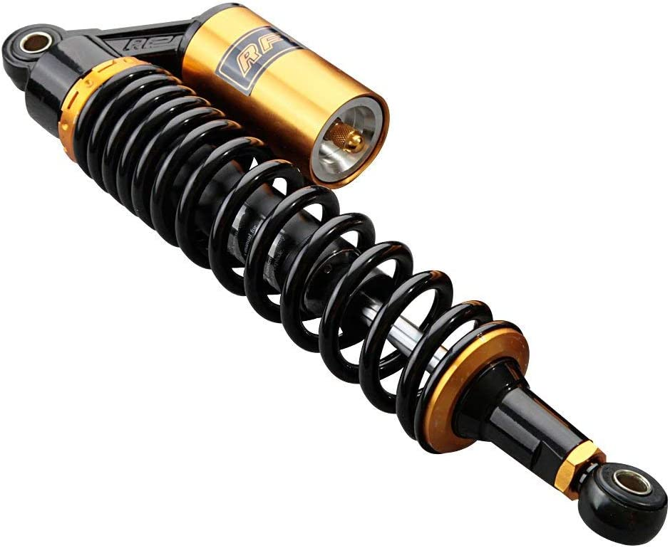 Mallofusa Motorcycle Pair Rear 400mm Shock Absorbers For Yamaha Suzuki ATV Scooters Street Bike Gold Black