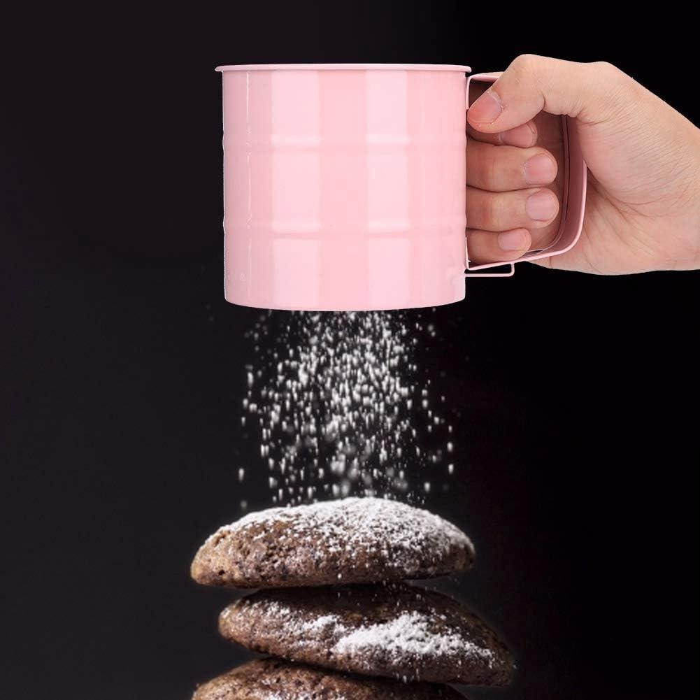 Duokon Flour Sifter Household Stainless Steel Flour Powder Sifter Mesh Sieve Baking Pastry Tool Baking Utensils Flour Sieve