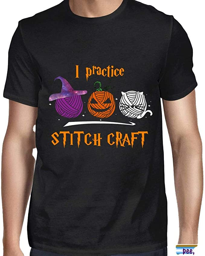 Amazon.com: I Practice Stitch Craft Yarn Halloween Shirt PeepzteesStitch Craft Yarn Tshirt Stitch Clothes Tshirt: Clothing