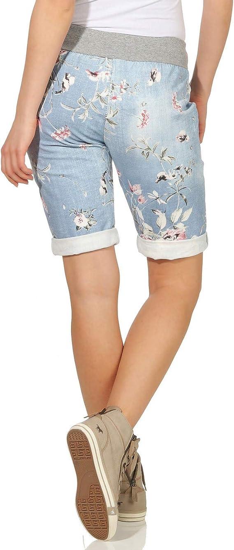 ZARMEXX Pantalones Cortos para Mujer Pantalones de Verano Boyfriend de Bermudas