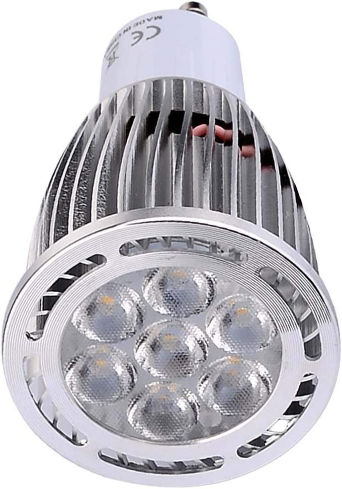 Elegdy 10Pcs GU10 7W SMD 3030 600-700 LM Warm White//Cool White LED Spotlight AC 85-265V AC 220-240V AC 110-130V Color : Warm White