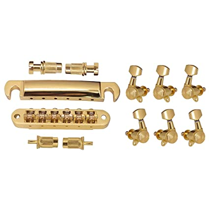 Homyl 6 Clavijas de Afinación de Guitarra Eléctrica Derecha Izquierda para Principiantes Producción Instrumentos Musicales