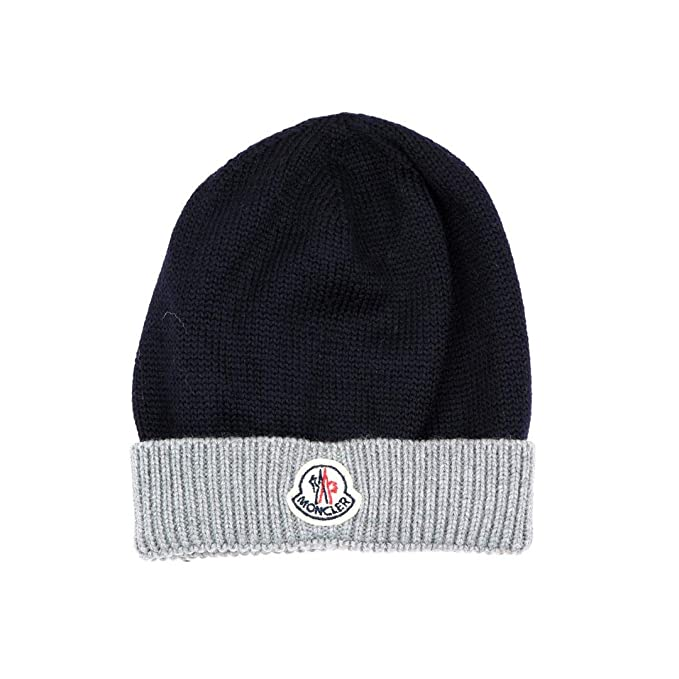 9c213315d8 Moncler Junior Cappello Bambino Kids Boy Mod. 0013405: Amazon.co.uk ...