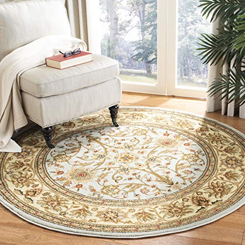 Safavieh Lyndhurst Collection LNH212J Traditional Oriental Grey and Beige Round Area Rug (8' -