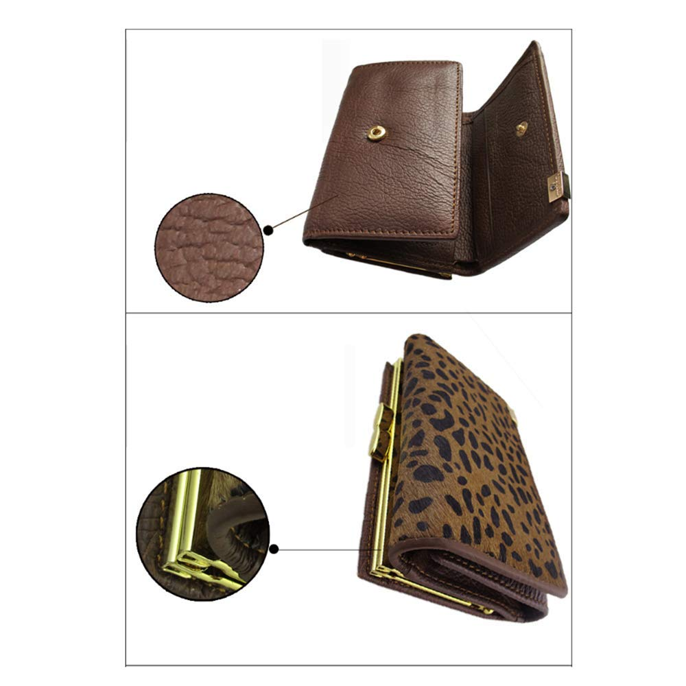 Amazon.com: GAOQQ Womens Purse - Leather Leopard Print ...
