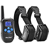 Petrainer PET998DRB Rechargeable Dog Shock Collar with Remote Dog Training Collar with Beep Vibration Shock Collar for Dogs Small Medium Large, 1000ft Remote Range