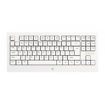 leobog K23 con cable mecánico teclado, teclado para juegos, láser grabado teclas, 87