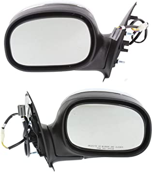 1997-2003 Ford F-150 Driver Side Chrome Cover Side View Mirror for 1997-1999 Ford F-250 2004 Ford F-150 Heritage