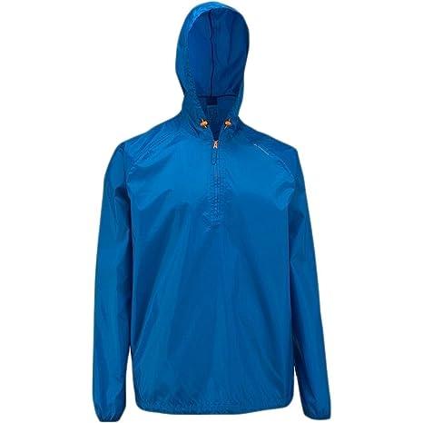 Quechua lluvia chaqueta de corte (azul) talla XL/XXL: Amazon ...