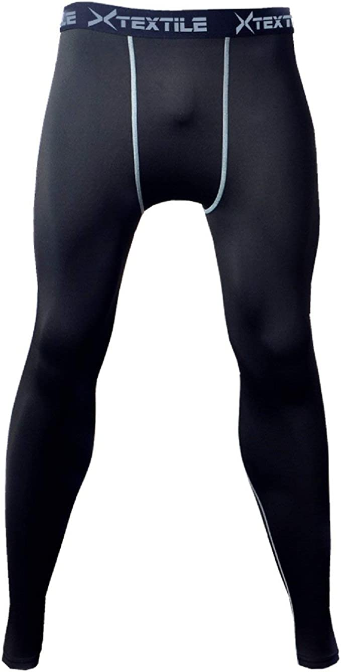 Xtextile Sports Compression Running Pants Gym Exercise Lycra Elastic Tight Leggings for Men Male