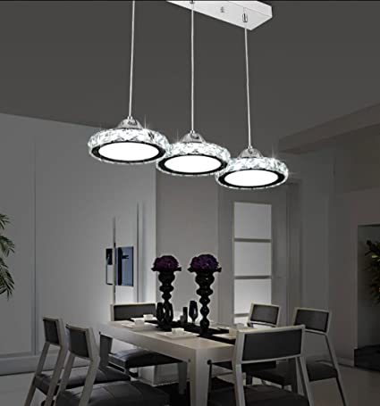 Restaurant Chandelier Three Modern Minimalist Restaurant Lamp Chandelier Round Crystal Pendant Lamp Dining Bar Table