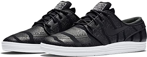 Nike SB Lunar Stefan Janoski Mens Trainers 654857 Sneakers Shoes (US 7.5, Black Anthracite