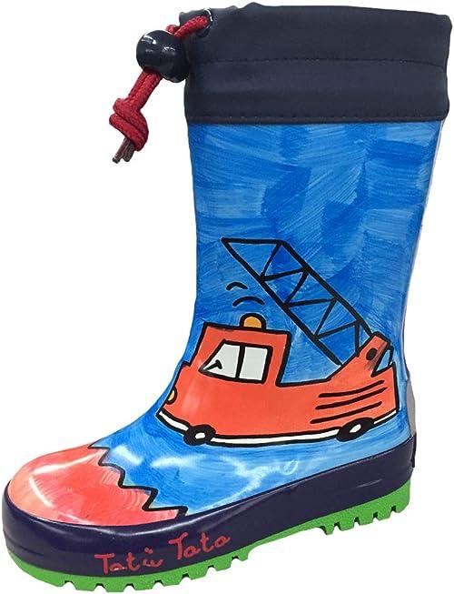 Kinder Gummistiefel Regenstiefel Jungen Stiefeletten Baby Schuhe Blau 18-25