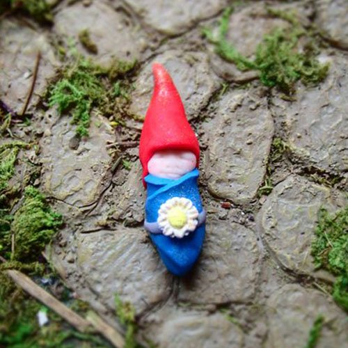 Miniature Fairy Garden Gnome Baby Figurine