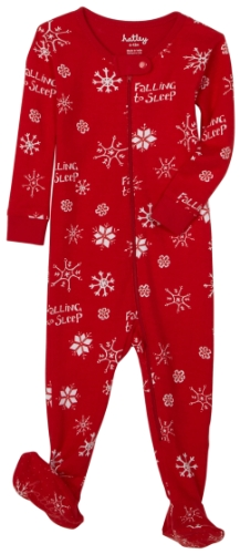 Hatley Footed Coverall - Snowflakes (All Over)