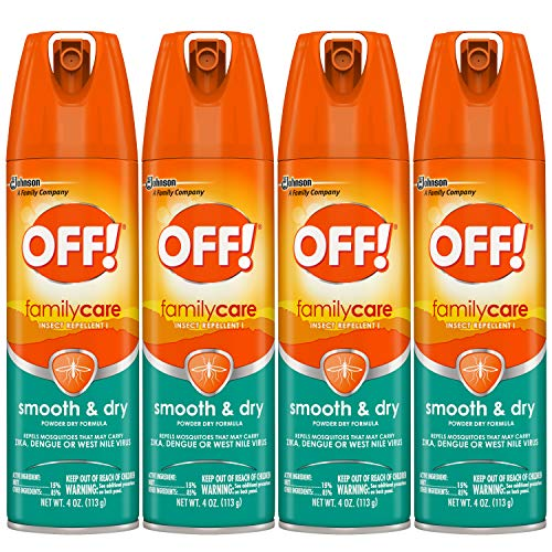 OFF! FamilyCare Insect Repellent I Smooth & Dry 4 oz (Pack of 4)