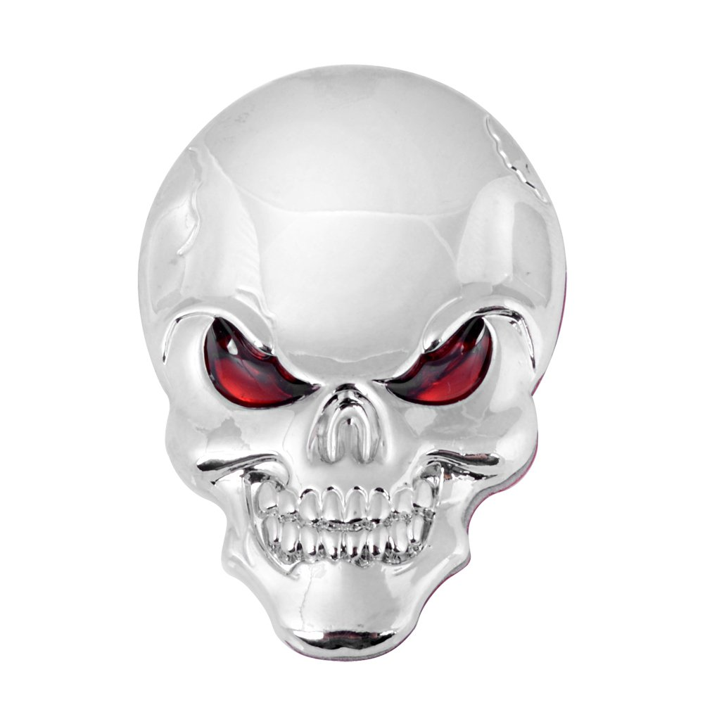 1 Chrome Skull Decal