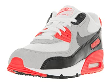 Nike Air Max 90 Premium Infrared Preschool Boys WhiteNeutral  GreyBlackCool