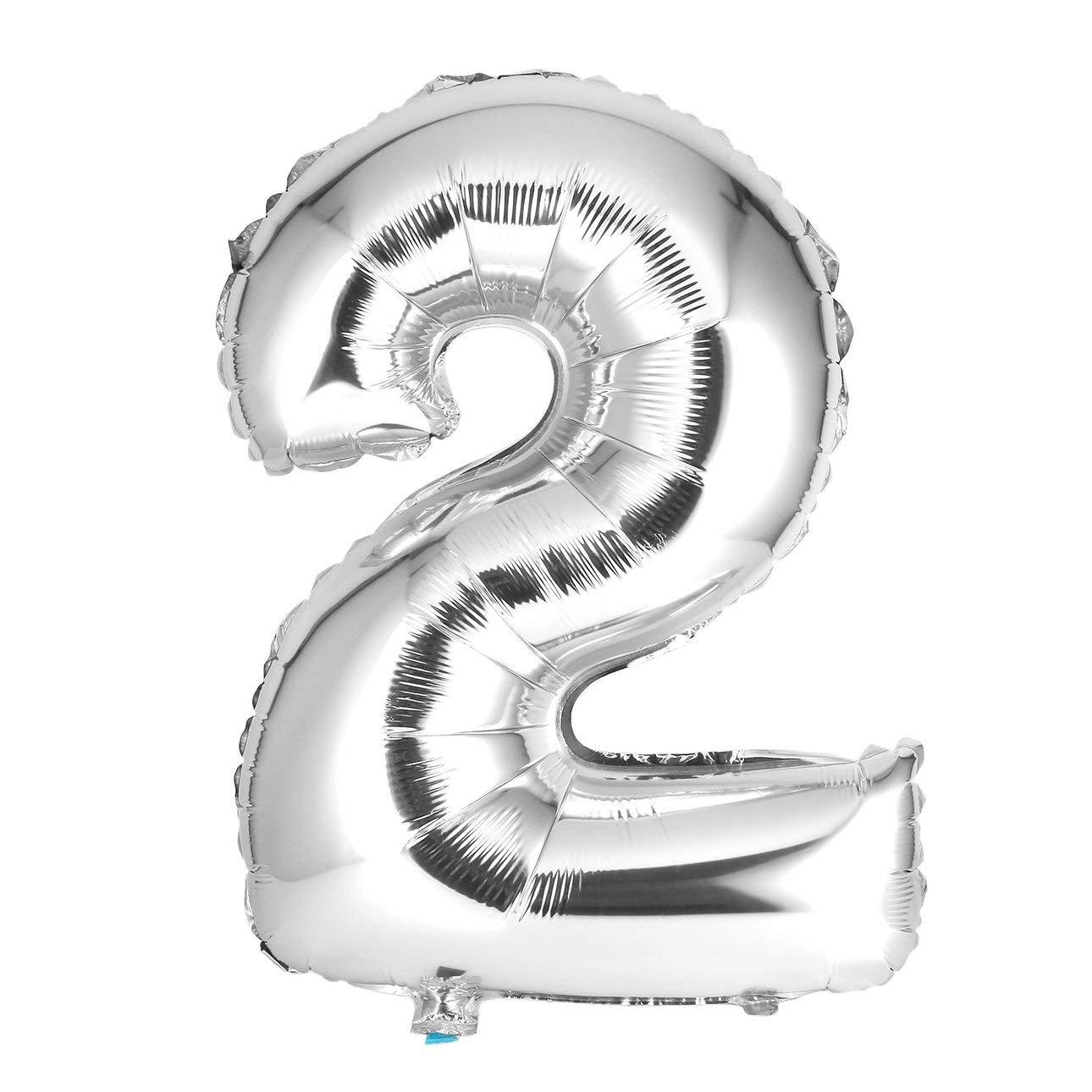 【開店記念セール!】 Liobaba 数字バルーン 30インチ 2 シルバー 誕生日 数字バルーン パーティーデコレーション 数字バルーン ヘリウムホイルデジタルバルーン Liobaba 誕生日 2 B07J4RKC1J, グーグー(zZZ):35dce0bf --- a0267596.xsph.ru