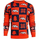 NFL Mens 2016 Patches Ugly Crew Neck Sweater,Team Options