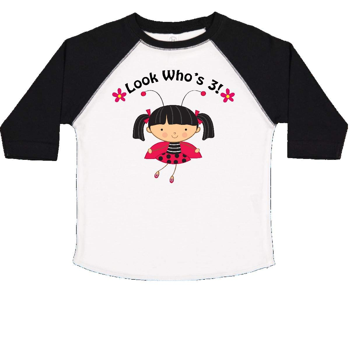 inktastic 3rd Birthday Ladybug 3 Year Old Girl Toddler T-Shirt