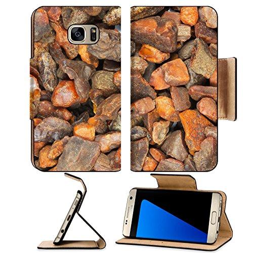 Luxlady Premium Samsung Galaxy S7 EDGE Flip Pu Leather Wallet Case IMAGE ID 26264000 - Fre Amber