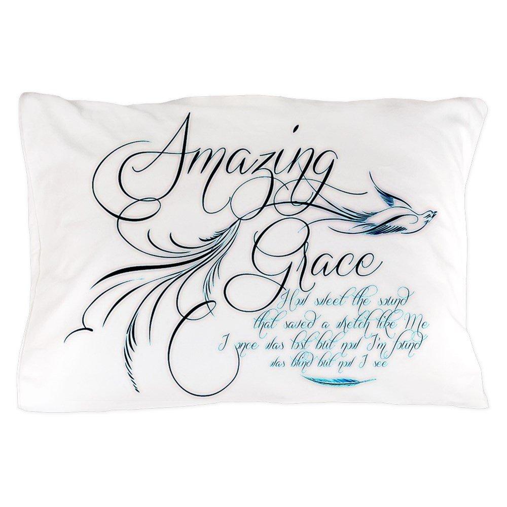CafePress - Amazing Grace - Standard Size Pillow Case, 20''x30'' Pillow Cover, Unique Pillow Slip