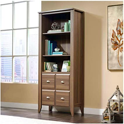 size 40 cee07 50ef4 Amazon.com: BS Tall Bookcase with Doors and Shelves Wood ...