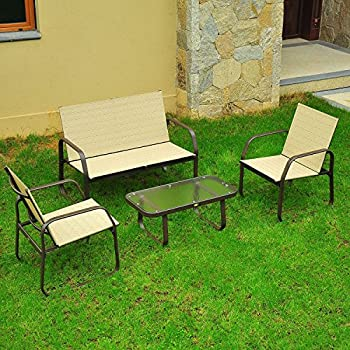 Outsunny 4-Pc. Aluminum Outdoor Furniture Set